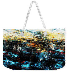 Weekender Tote Bag featuring the digital art Sunset 083014 by David Lane