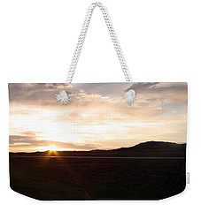 Weekender Tote Bag featuring the photograph Sunset Across I 90 by Cathy Anderson