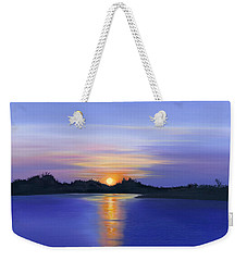 Sunset Across The River Weekender Tote Bag by Elizabeth Lock