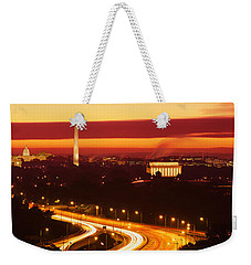 Sunset, Aerial, Washington Dc, District Weekender Tote Bag by Panoramic Images
