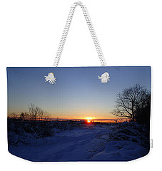Weekender Tote Bag featuring the photograph Sunset After The Snow by Robert Nickologianis
