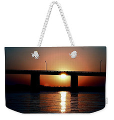 Weekender Tote Bag featuring the photograph Sunset And Bridge by Debra Forand