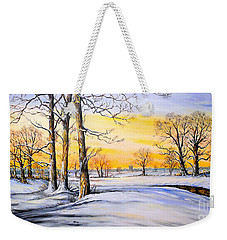 Sunset And Snow Weekender Tote Bag
