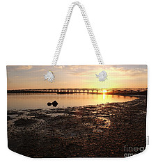Sunset And Wooden Bridge In Ludo Weekender Tote Bag