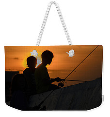Sunset Anglers Weekender Tote Bag by Keith Armstrong