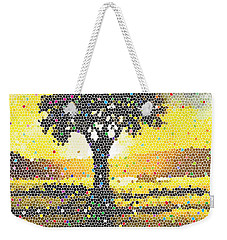 Weekender Tote Bag featuring the painting Sunset Beauty by Anthony Mwangi