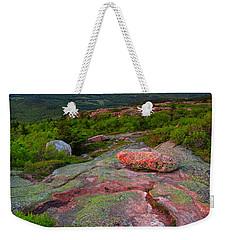 Sunset At Cadillac Mountain Weekender Tote Bag