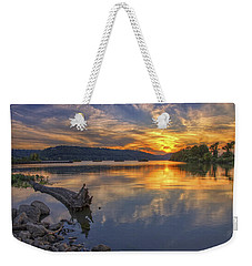 Sunset At Cook's Landing - Arkansas River Weekender Tote Bag