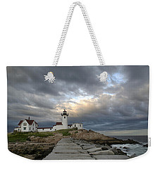 Sunset At Eastern Point Lighthouse Weekender Tote Bag
