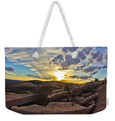 Sunset At Enchanted Rock State Natural Area Weekender Tote Bag