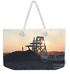 Sunset At Jones Beach Weekender Tote Bag