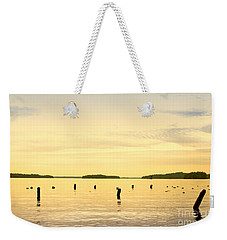 Weekender Tote Bag featuring the photograph Sunset At Lake Muskoka by Les Palenik