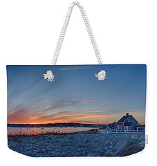 Sunset At Scituate Light Weekender Tote Bag by Jeff Folger