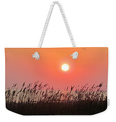 Weekender Tote Bag featuring the photograph Sunset At The Beach by Cynthia Guinn