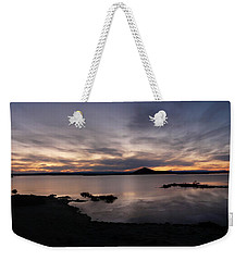 Sunset Over Lake Myvatn In Iceland Weekender Tote Bag