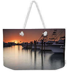 Sunset At The Pelican Yacht Club Weekender Tote Bag