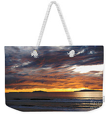 Sunset At The Shores Weekender Tote Bag by Janice Westerberg
