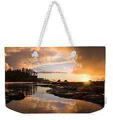 Sunset Bay Reflections Weekender Tote Bag by Patricia Davidson