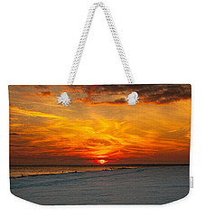 Weekender Tote Bag featuring the photograph Sunset Beach New York by Chris Lord