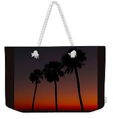 Sunset Beach Silhouette Weekender Tote Bag