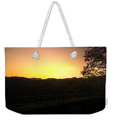 Weekender Tote Bag featuring the photograph Sunset Behind Hills by Jonny D