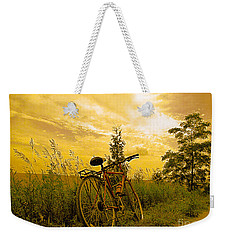 Sunset Biking Weekender Tote Bag by Nina Silver