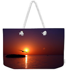 Sunset Blue Weekender Tote Bag by Beverly Stapleton