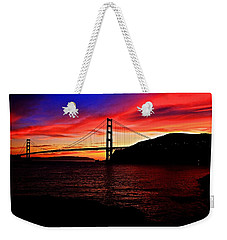 Weekender Tote Bag featuring the photograph Sunset By The Bay by Dave Files