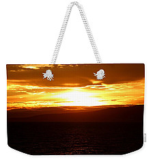 Sunset By The Fjord Weekender Tote Bag