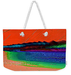 Sunset By The Lake Weekender Tote Bag