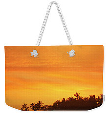 Weekender Tote Bag featuring the photograph Sunset Canoe by Athala Carole Bruckner