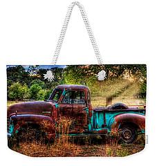 Sunset Chevy Pickup Weekender Tote Bag