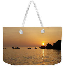 Sunset Crooklets Beach Bude Cornwall Weekender Tote Bag by Richard Brookes