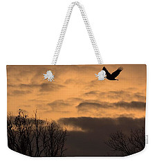 Sunset Eagle Weekender Tote Bag