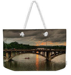 Sunset Fighting Through Weekender Tote Bag