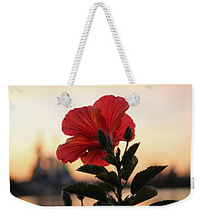 Weekender Tote Bag featuring the photograph Sunset Flower by Cynthia Guinn