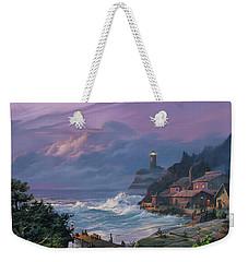 Sunset Fog Weekender Tote Bag