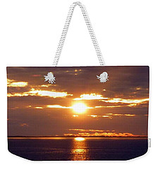 Sunset From Peace River Bridge Weekender Tote Bag by Barbie Corbett-Newmin