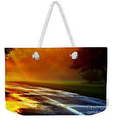 Sunset Glint In The Mist Weekender Tote Bag