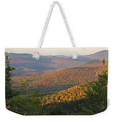 Sunset Glow Over The Autumn Landscape Weekender Tote Bag