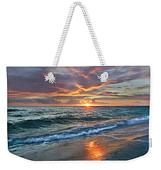 Weekender Tote Bag featuring the photograph Sunset Gulf Islands National Seashore by Tim Fitzharris