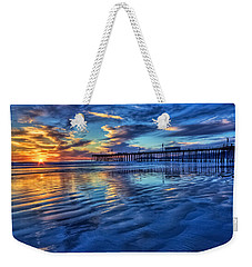 Sunset In Blue Weekender Tote Bag