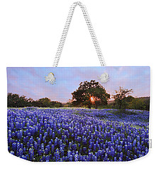 Sunset In Bluebonnet Field Weekender Tote Bag