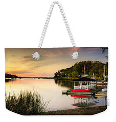 Sunset In Centerport Weekender Tote Bag