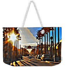 Sunset In Daytona Beach Weekender Tote Bag