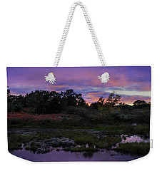 Sunset In Purple Along Highway 7 Weekender Tote Bag