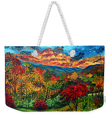Sunset In Shenandoah Valley Weekender Tote Bag