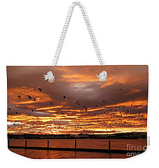 Sunset In Tauranga New Zealand Weekender Tote Bag by Jola Martysz