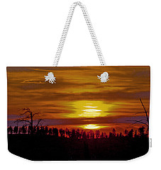 Weekender Tote Bag featuring the photograph Sunset In The Black Hills 2 by Cathy Anderson