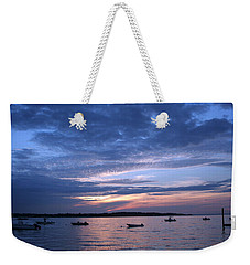 Weekender Tote Bag featuring the photograph Sunset by Karen Silvestri